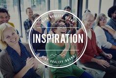 Inspirera inspirerande inspiration motiverar inför nyheter begrepp arkivfoton