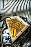 Inspirerad motorcykel för WTC Fotografering för Bildbyråer