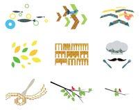 Inspirerad organisk Themed illustration för skandinav Arkivfoto