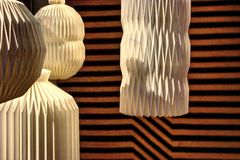 Inspirerade lampor för japan Arkivfoto