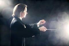 Inspirerade maestror för musikledare Arkivfoto