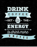 Inspirerande kaffe och uppmuntran stock illustrationer