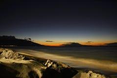 Inspirerande solnedgång Arkivbilder