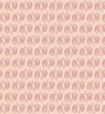 Inspirerat av modellen för vektor för 70-taltapet den kvinnliga i rosa färg- och korallsignaler vektor illustrationer