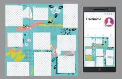 Inspirerat av socialt massmedia för instagramvektor förbrylla malldesignen vektor illustrationer