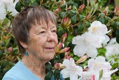 Inspirerende tachtig éénjarigenvrouw Stock Fotografie