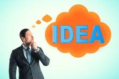 Inspirez et concept de solution images libres de droits