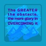 Inspirierend motiviertes Zitat Stockbilder