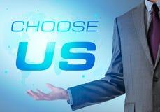 Inspirierend Motivierungsfirmenzitat mit Geschäftsmann choose stock abbildung