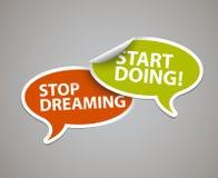 Inspirierend Motivierungszitat in den Spracheblasen Lizenzfreies Stockbild