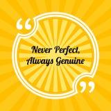 Inspirierend Motivzitat Vervollkommnen Sie nie, immer echt vektor abbildung