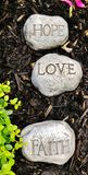Inspirierend positive Mitteilungs-Ermutigungs-Hoffnungs-Glauben-Liebe lizenzfreies stockbild
