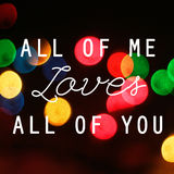 Inspirierend Zitat mit Liebeskonzept auf bokeh Licht Stockbilder