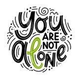 Inspirierend Zitate für Tag der psychischen Gesundheit Stock Abbildung