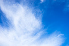 Inspiring Background. Beautiful cloud and the blue sky Royalty Free Stock Images