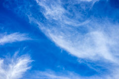 Inspiring Background. Beautiful cloud and the blue sky Royalty Free Stock Photos
