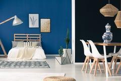 Inspiring blue studio Stock Photo