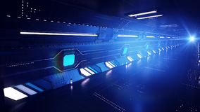 Hypersonic Dark Subway Tunnel. An inspiring 3d rendering of a high-speed subway made underground for extralong trips. The subway goes under the mountains and Royalty Free Stock Images