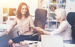 Inspiring energetic lady asking for advice royalty free stock photos