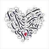 Inspiring heart shaped poster vector illustration