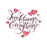 Inspiring  lettering about love Royalty Free Stock Photo