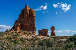 An Inspiring Look Around the Park. An inspiring look around the magnificent Arches National Park in southern Utah Royalty Free Stock Photography