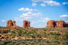An Inspiring Look Around the Park. An inspiring look around the magnificent Arches National Park in southern Utah Stock Photos
