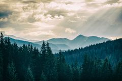 Inspiring Mountains Landscape, beautiful summer day in Tatras, P Royalty Free Stock Images
