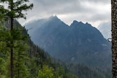 Inspiring Mountains Landscape, cloudy day in summer Tatras Royalty Free Stock Photos