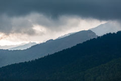 Inspiring Mountains Landscape, cloudy day in summer Tatras Stock Image