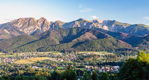 Inspiring Mountains Landscape Panorama, beautiful summer day in. Inspiring Mountains Landscape Panorama, beautiful day in summer Tatras, mountain ridge over blue Stock Photography