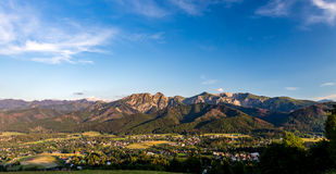 Inspiring Mountains Landscape Panorama, beautiful summer day in. Inspiring Mountains Landscape Panorama, beautiful day in summer Tatras, mountain ridge over blue royalty free stock photos
