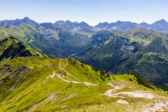 Inspiring Mountains Landscape, sunny day in summer Tatras Royalty Free Stock Photography