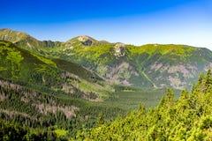 Inspiring Mountains Landscape View, summer Tatras Royalty Free Stock Photos