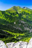 Inspiring Mountains Landscape View, sunny day in summer Tatras Stock Photos