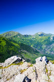 Inspiring Mountains Landscape View, sunny day in summer Tatras Stock Photography