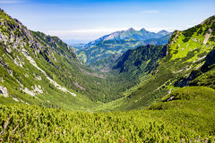 Inspiring Mountains Landscape View in Tatra Mountains Stock Image
