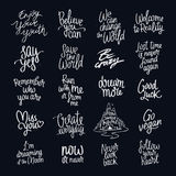 Inspiring quotes. Fashionable calligraphy vector illustration