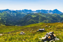 Inspiring Tatra Mountains Landscape View, sunny day in summer Ta Stock Photo
