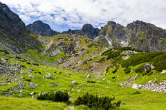 Inspiring Tatra Mountains Landscape View, sunny summer day Royalty Free Stock Images