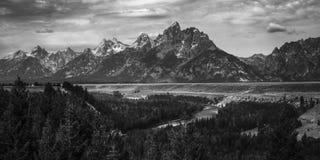The Teton Range of the Rocky Mountains Stock Photos