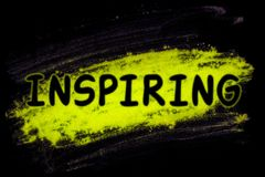 Inspiring word with glow powder Vector Illustration