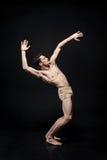 Inspirowany młody baletniczego tancerza chodzenie w studiu fotografia stock