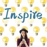 Inspiruje dążenie wyobraźni innowaci Bramkowego pojęcie zdjęcia royalty free