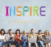 Inspiruje obiecującego Wierzy dążenie wzrok Wprowadza innowacje pojęcie zdjęcia royalty free