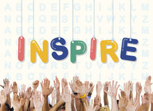 Inspiruje obiecującego Wierzy dążenie wzrok Wprowadza innowacje pojęcie zdjęcie stock