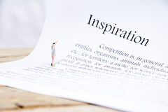 Inspriation文本焦点词 免版税库存图片