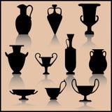 inställd forntida keramik Arkivbild