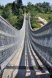 Inställd fot- bro, Quebec, Kanada Arkivfoton