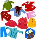inställd kläder stock illustrationer